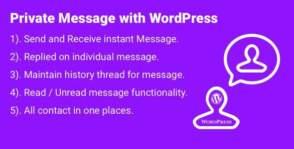 Internal Messaging System for WordPress