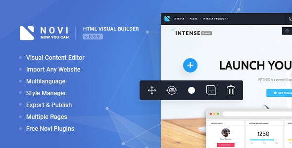 Novi - HTML Page Builder & Visual Content Editor