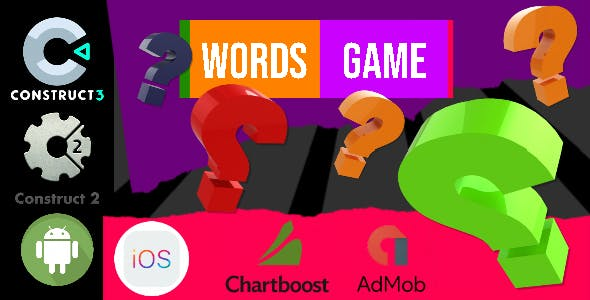 Words Game Construct 2 - Construct 3 CAPX Game