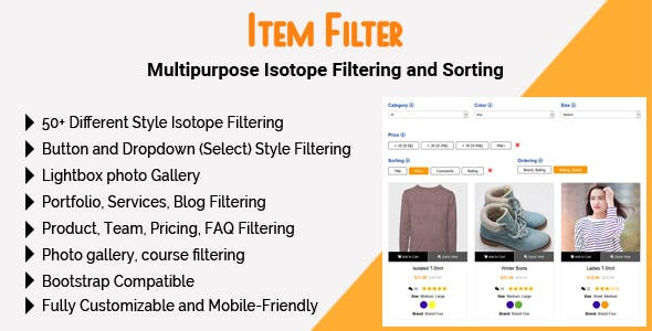 Item Filter - Multipurpose Isotope Filtering and Sorting