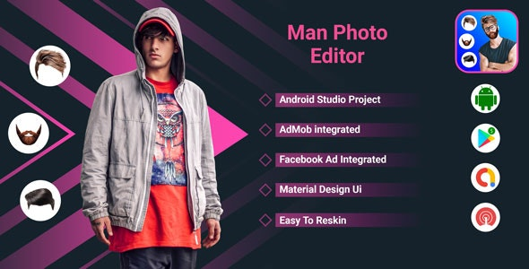 Men Photo Editor -  Men Hairstyle Photo Editor - CodeCanyon Item for Sale