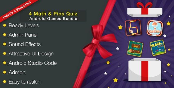 4 Math & Pics Quiz - Android Games Bundle