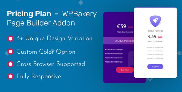 Pricing Table - WPBakery Page Builder Addon ( formerly Visual Composer ) - CodeCanyon Item for Sale