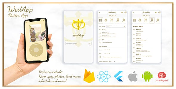 Wedding App - WedApp built with Flutter + Dashboard
