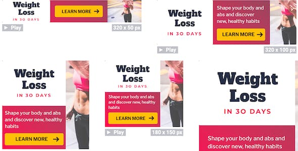 Weight Loss Ad Banner sets