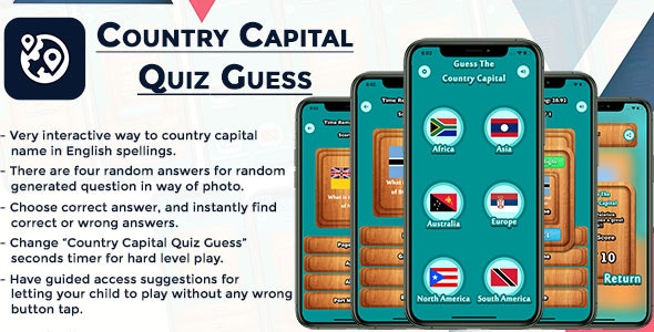 Country Capital Quiz Guess IOS (Swift) - CodeCanyon Item for Sale
