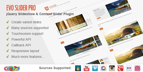 Evo Slider Pro - jQuery Slider Plugin - CodeCanyon Item for Sale