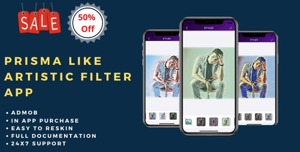 Photo edit - Prisma like artistic photo effects - CodeCanyon Item for Sale