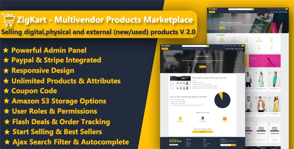 ZigKart - Multivendor Products Marketplace - CodeCanyon Item for Sale