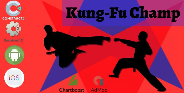 Kung-Fu Champ Construct 2 - Construct 3 CAPX Game