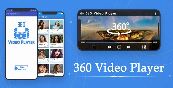 360 Video Player view Panorama 4K 360 degree : VR Media, 360 View App - Android App + Ads - CodeCanyon Item for Sale