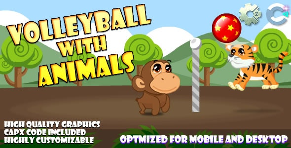 Volley Ball With Animals (C2,C3,HTML5 - CodeCanyon Item for Sale