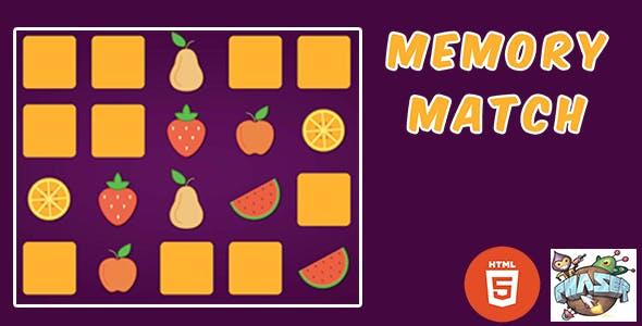 Fruits Memory Matching - HTML5 Game