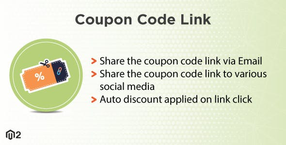 Magento 2 Coupon Code Link