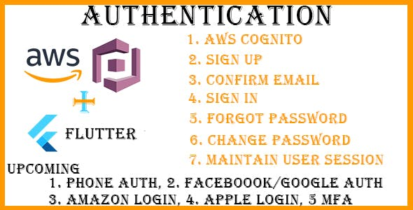Flutter AWS Cognito Auth
