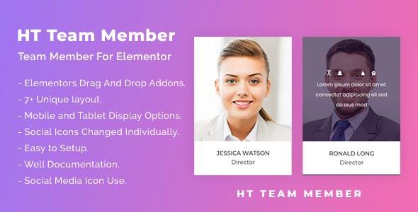 HT Team Member For Elementor