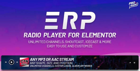 Erplayer - Radio Player for Elementor - CodeCanyon Item for Sale