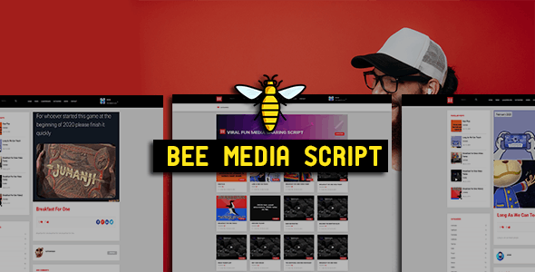 Bee Media Script - Viral Fun Media Sharing Site