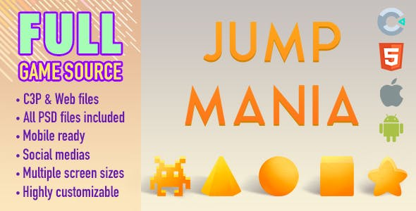 Jump Mania - HTML5 Game (Construct 3)