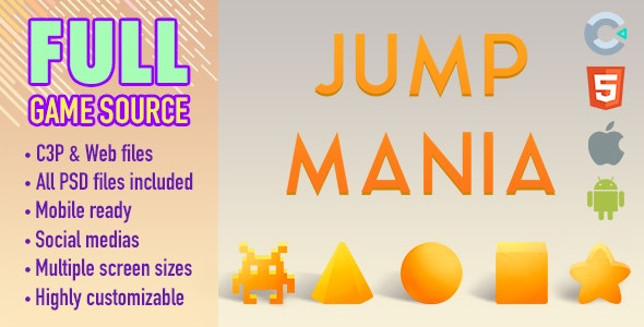 Jump Mania - HTML5 Game (Construct 3) - CodeCanyon Item for Sale