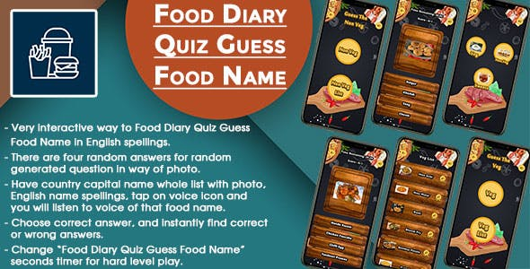 Food Diary Quiz Guess Food Name IOS (Swift)