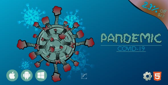 Pandemic Covid-19 • HTML5 + C2 Game