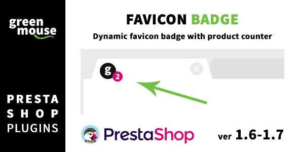 Favicon badge with product counter for Prestashop