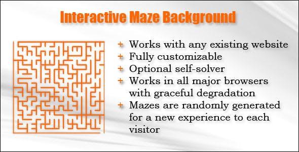 Interactive Maze Background