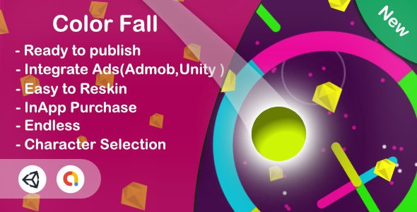 Color Fall - Color Switch(Unity Complete+Android+Ios+Admob) - CodeCanyon Item for Sale