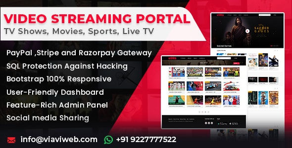 Video Streaming Portal (TV Shows, Movies, Sports, Videos Streaming, Live TV) - CodeCanyon Item for Sale