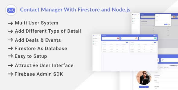 Contact Manager With Firestore and Node.js - CodeCanyon Item for Sale