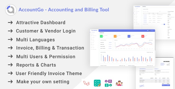 AccountGo - Accounting and Billing Tool - CodeCanyon Item for Sale