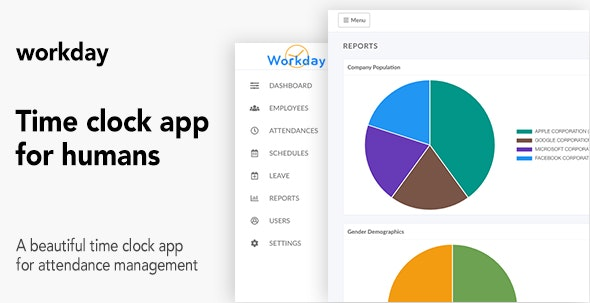 Workday - A Time Clock Application For Employees - CodeCanyon Item for Sale