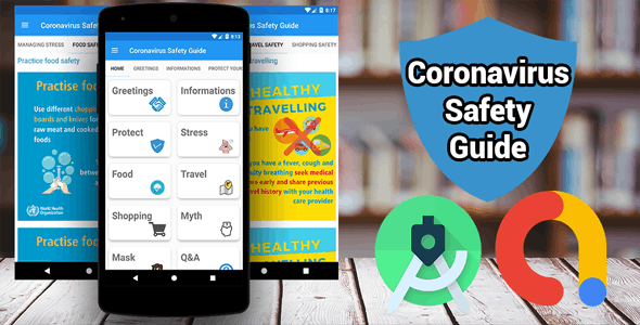 Coronavirus (COVID-19) Safety Guide - Live News + Real time Map + Real time Stats + AdMob - CodeCanyon Item for Sale