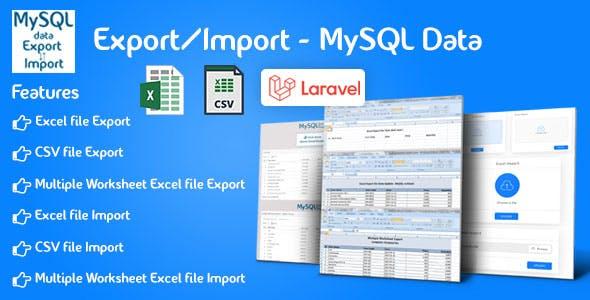 Export/Import - Laravel