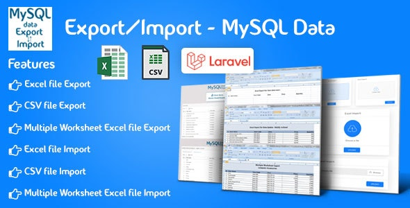 Export/Import - Laravel - CodeCanyon Item for Sale