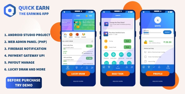 Quick Earn v1.5 | Play Fantasy Game Luky Draw With Paypal Payment Gateway - CodeCanyon Item for Sale