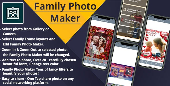 Family Photo Maker IOS (Objective C) - CodeCanyon Item for Sale