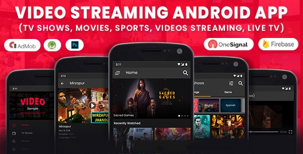 Video Streaming Android App (TV Shows, Movies, Sports, Videos Streaming, Live TV) - CodeCanyon Item for Sale