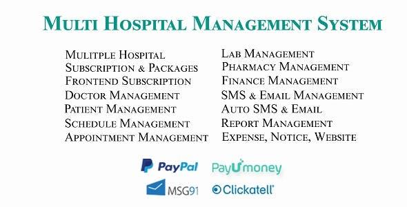 Multi Hospital - Hospital Management System (Saas App)