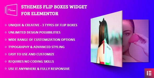 Flip Box Widget For Elementor