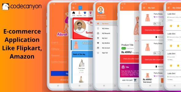 E-commerce Application Like Flipkart, Amazon