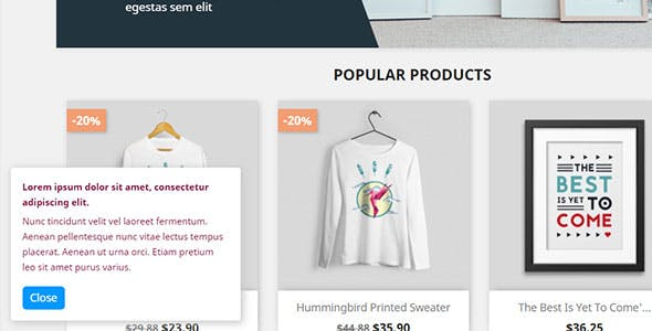 Custom message box for Prestashop
