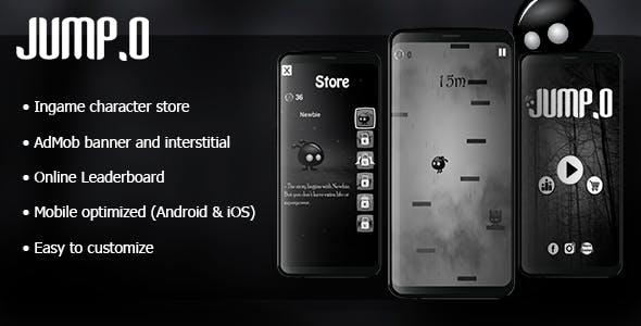 Jump.o - HTML5 Desktop & Mobile Game + AdMob