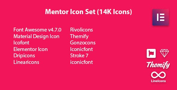 Mentor Icon Set - Icon Pack Addon For Elementor Page Builder