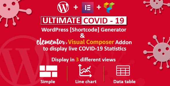 Ultimate Covid-19 - Live Corona Virus Statistics for WordPress