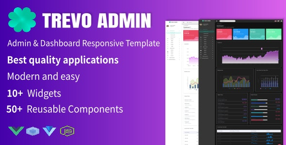 Trevo -  Admin & Dashboard Templates - CodeCanyon Item for Sale