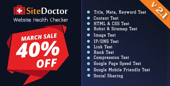 SiteDoctor - A XeroSEO Add-on : Website Health Checker