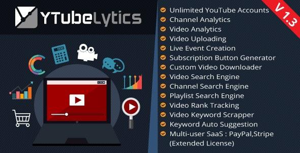 YTubeLytics – Youtube Analytics & Marketing Software - CodeCanyon Item for Sale
