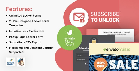 Subscribe to Unlock Opt In Content Locker WordPress Plugin - CodeCanyon Item for Sale